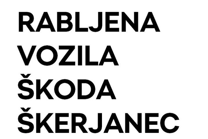 Rabljena vozila Škoda Škerjanec